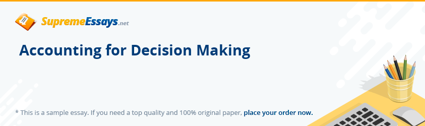 Accounting for Decision Making