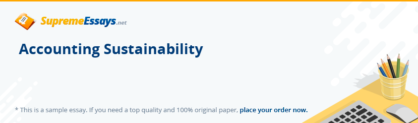 Accounting Sustainability