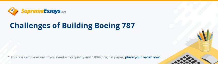 Challenges of Building Boeing 787
