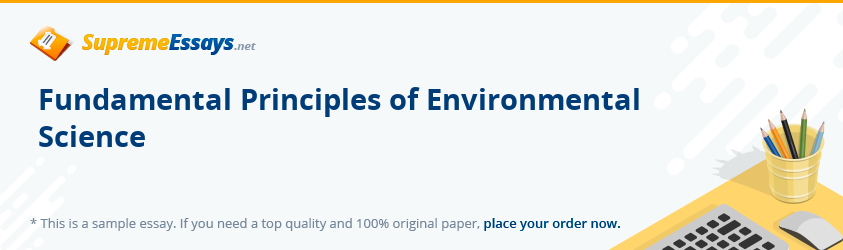 Fundamental Principles of Environmental Science