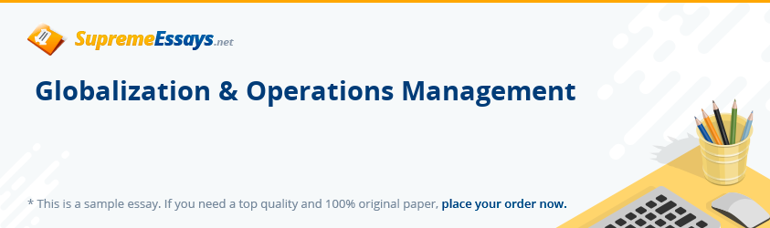 Globalization & Operations Management