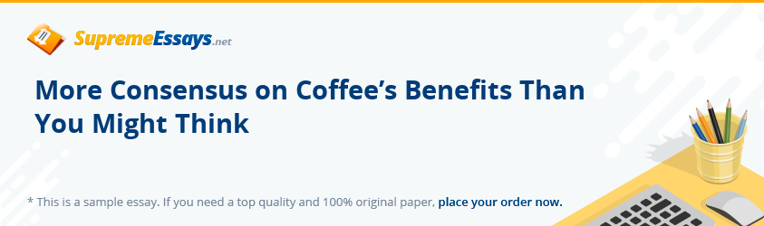 More Consensus on Coffee's Benefits Than You Might Think