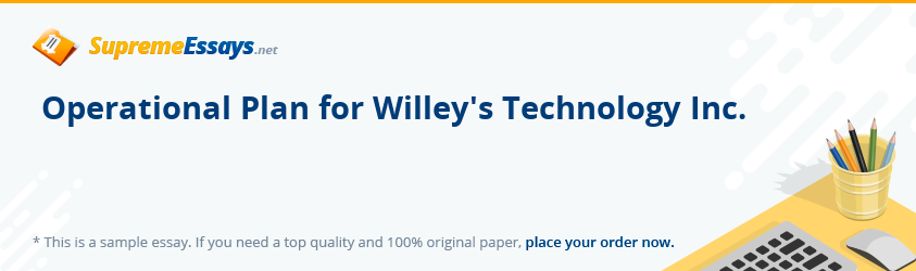 Operational Plan for Willey's Technology Inc.
