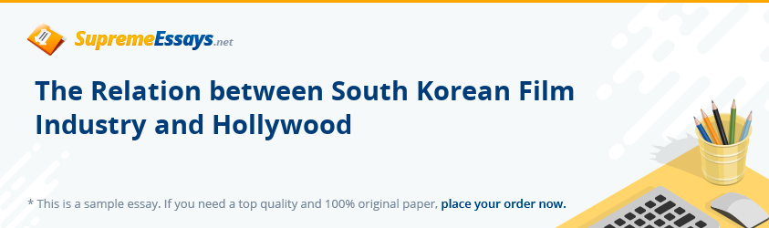 The Relation between South Korean Film Industry and Hollywood